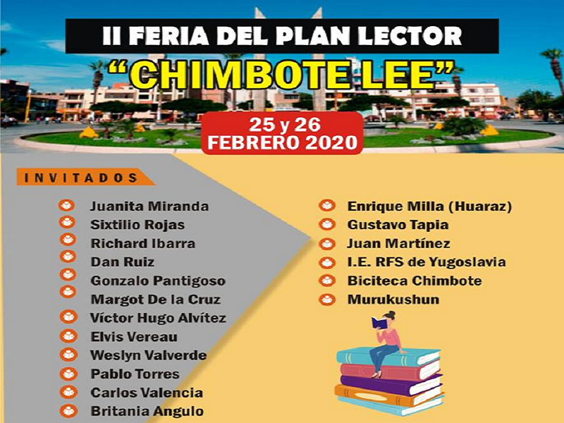 """Chimbote lee"" regresa este 25 y 26 del corriente"